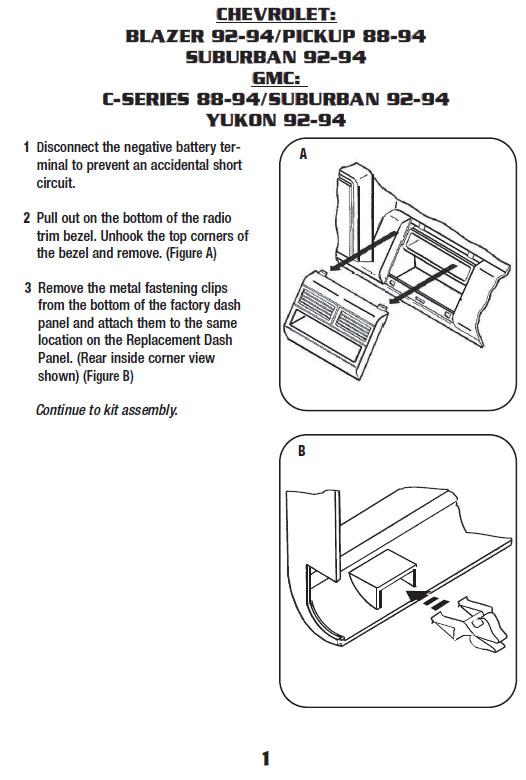 1993 chevrolet c1500 dash wiring diagram