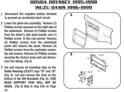 1996 Honda Odyssey Installation Parts, harness, wires, kits ... on 1991 honda wiring diagram, 1996 honda fuse diagram, 1997 honda wiring diagram, 1996 honda engine diagram,