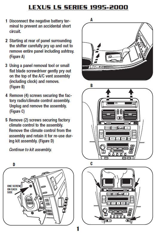 1995 Lexus Ls400 Installation Parts Harness Wires Kits Bluetooth