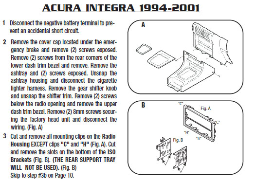 1996 Acura Integra Installation Parts  Harness  Wires