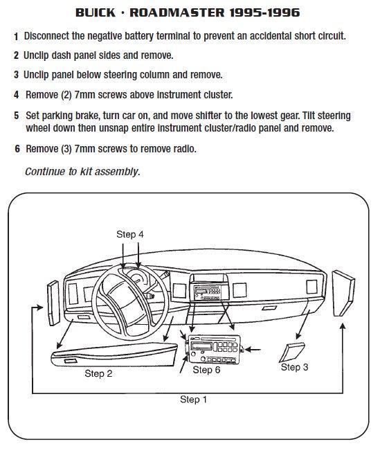 1996 buick roadmaster installation parts harness wires kits rh installer com