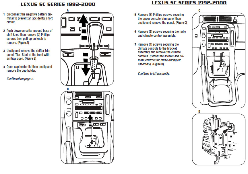 1996 lexus sc400 installation parts  harness  wires  kits