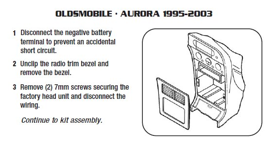 1996 Oldsmobile Aurora Installation Parts Harness Wires Kits Bluetooth Iphone Tools Wire Diagrams Stereo: 1996 Oldsmobile Aurora Stereo Wiring Diagram At Satuska.co