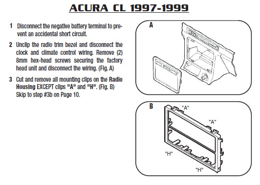 1997 acura cl installation parts harness wires kits. Black Bedroom Furniture Sets. Home Design Ideas