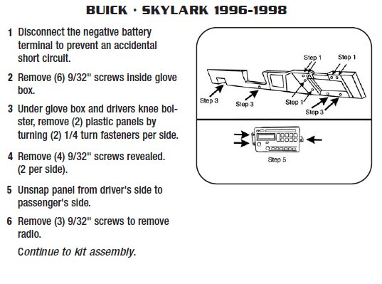 1997 buick skylark installation parts harness wires kits rh installer com