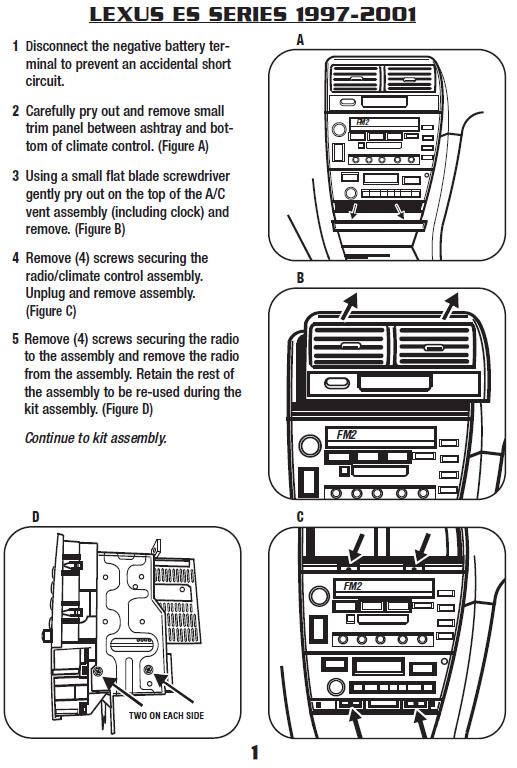 1997 lexus es300 installation parts harness wires kits bluetooth rh installer com 1997 lexus ls400 wiring diagram 1997 lexus lx450 radio wiring diagram