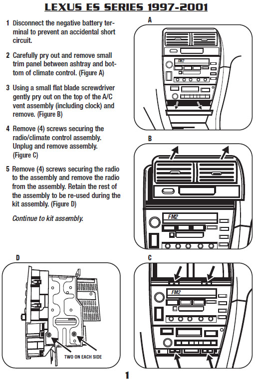 Wiring Harness Es300 Double Din Wiring Diagram