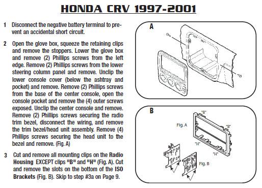 1999 Honda Crv Installation Parts, harness, wires, kits ...