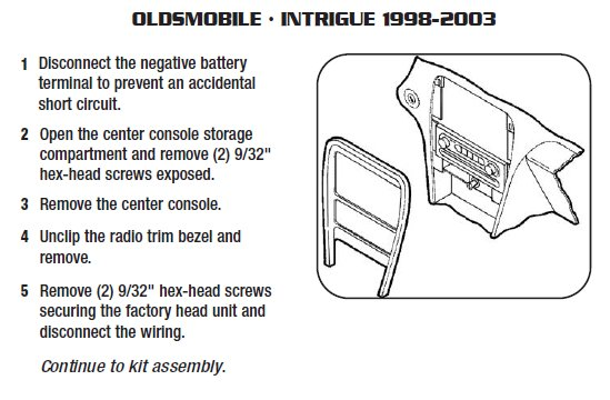 1999 Oldsmobile Intrigue Installation Parts Harness Wires Kits Bluetooth Iphone Tools Wire Diagrams Stereo: 1999 Oldsmobile Intrigue Stereo Wiring Diagram At Jornalmilenio.com