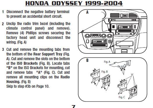 2000 honda odyssey installation parts harness wires kits rh installer com 2000 honda odyssey alternator wiring 2000 honda odyssey trailer wiring