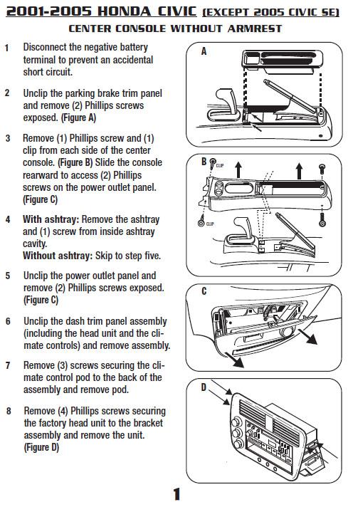 2001 honda civic installation parts harness wires kits bluetooth rh installer com