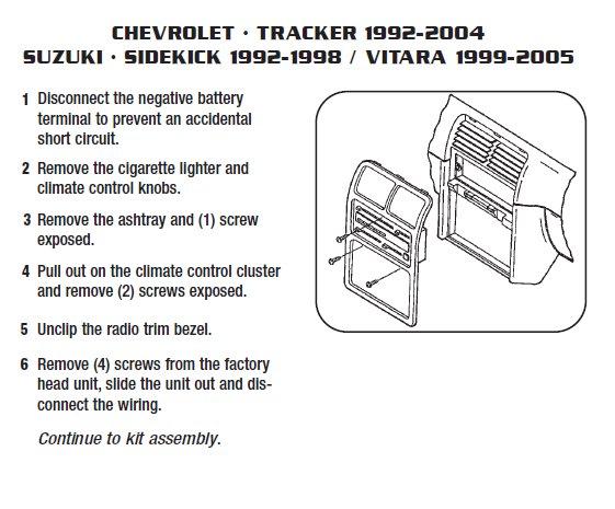 95 geo tracker stereo wiring 2002 chevrolet tracker installation parts  harness  wires  kits  2002 chevrolet tracker installation