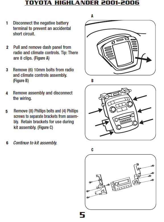 [ZTBE_9966]  2002 Toyota Highlander Installation Parts, harness, wires, kits, bluetooth,  iphone, tools, wire diagrams Stereo | 02 Toyota Highlander Stereo Wiring |  | Car Installer Parts