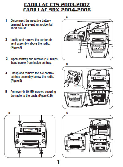 2003 cadillac cts installation parts, harness, wires, kits 2003 Cadillac DeVille Fuse Box Diagram