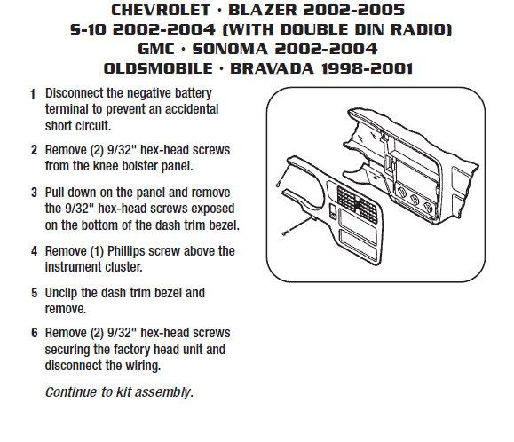 2003 chevrolet blazer installation parts, harness, wires, kits 2001 Blazer