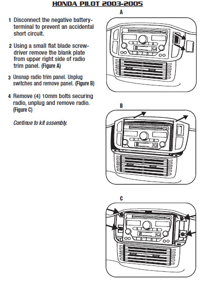 2003 honda pilot installation parts, harness, wires, kits 2003 honda civic radio wiring diagram 2006 honda element wiring diagram