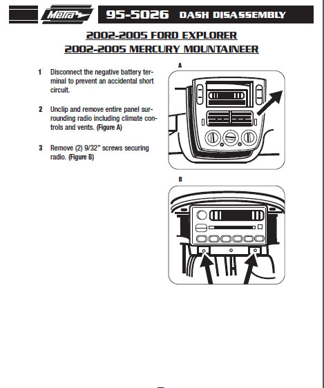 2004 mercury mountaineer installation parts, harness, wires, kits Mercury Mountaineer Radio Wiring Diagram Allison