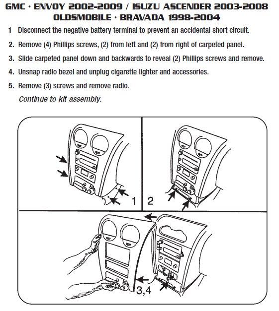 2004 Isuzu Ascender Installation Parts, harness, wires, kits