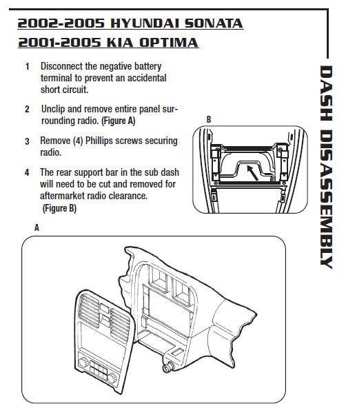 2004 KIA Optima Installation Parts Harness Wires Kits Bluetooth Iphone Tools Wire Diagrams Stereo: KIA Optima 2004 Radio Wiring Diagram At Jornalmilenio.com