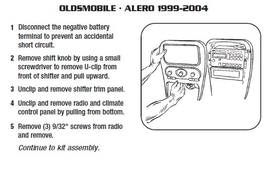 2004 Oldsmobile Alero Installation Parts, harness, wires, kits, bluetooth, iphone, tools, wire ...