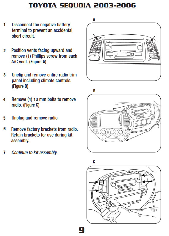 2004 toyota sequoia installation parts, harness, wires, kits, bluetooth,  iphone, tools, wire diagrams stereo