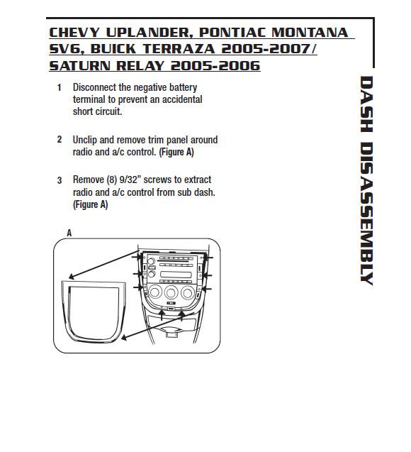 2005 Chevrolet Uplander Installation Parts Harness Wires Kits Rhinstaller: 2005 Chevy Uplander Radio At Gmaili.net