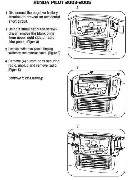 2005 Honda Pilot Installation Parts, harness, wires, kits ... on