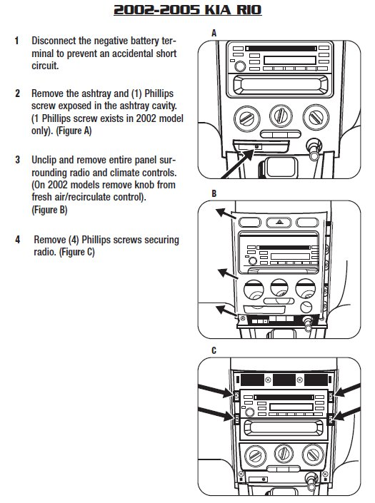 2005 kia rio installation parts, harness, wires, kits, bluetooth, iphone,  tools, wire diagrams stereo
