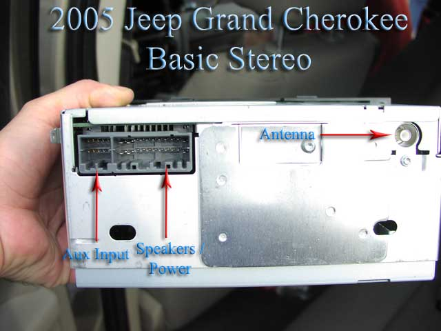 2005 jeep grand cherokee  w   nav  installation parts