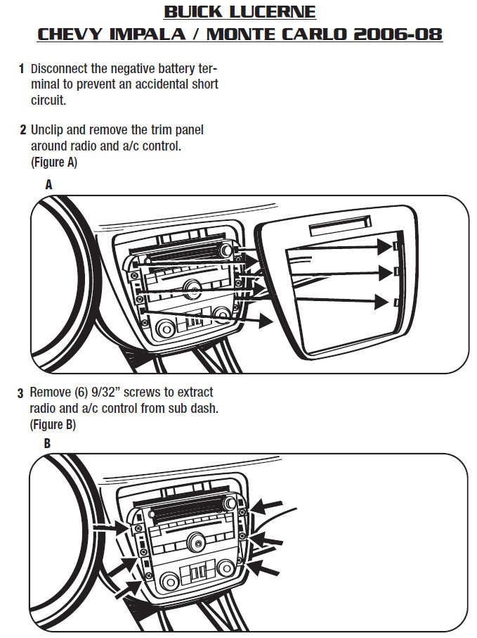 2006 chevrolet monte carlo installation parts, harness, wires, kits2006 chevrolet monte carlo installation parts, harness, wires, kits, bluetooth, iphone, tools, installation instructions wire diagrams stereo