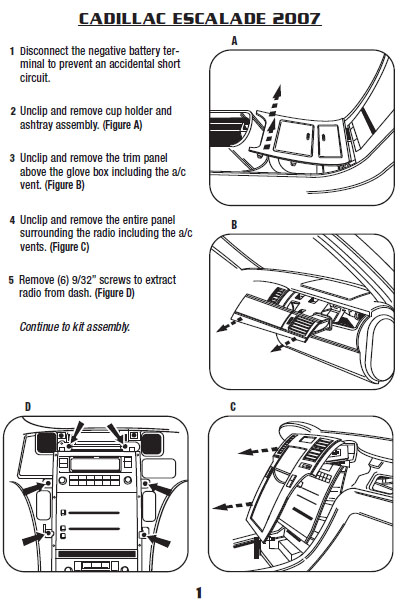2007 cadillac escalade installation parts, harness, wires, kits, bluetooth,  iphone, tools, wire diagrams stereo