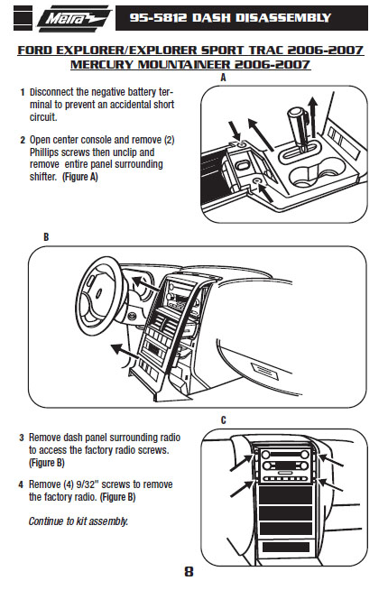 2007 ford explorer installation parts, harness, wires, kits, bluetooth,  iphone, tools, wire diagrams stereo