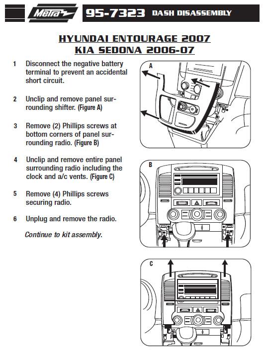 2007 Kia Sedona Installation Parts  Harness  Wires  Kits