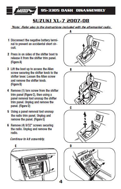 2007 Suzuki Xl-7 Installation Parts, harness, wires, kits