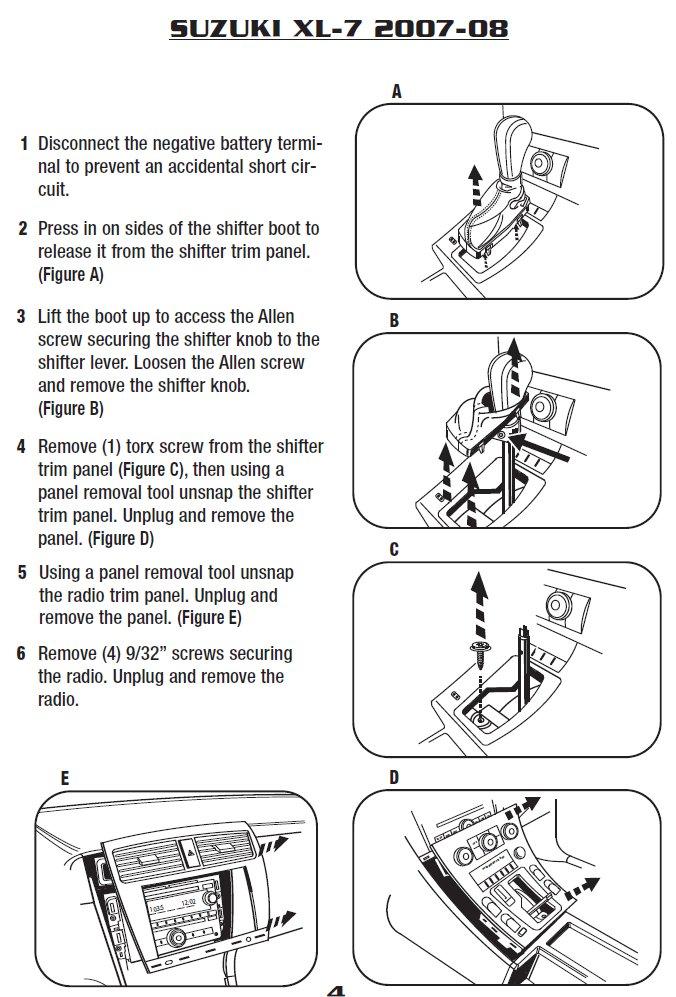 2007 Suzuki Xl-7 Installation Parts, harness, wires, kits ... on