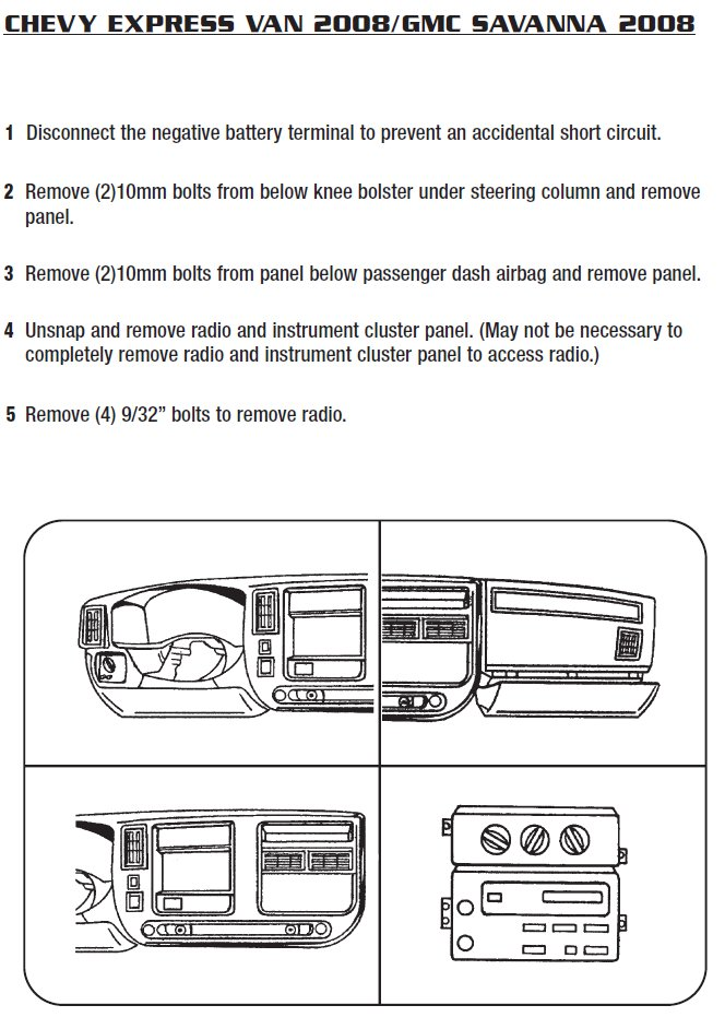 2008 gmc savana installation parts, harness, wires, kits, bluetooth,  iphone, tools, installation instructions wire diagrams stereo