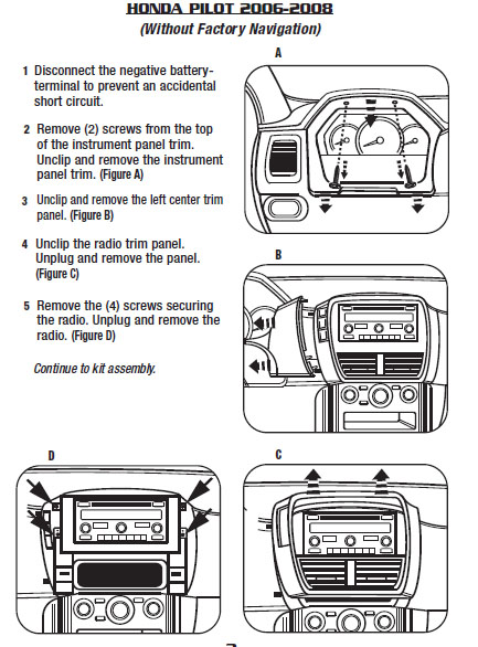 2008 honda pilot installation parts, harness, wires, kits, bluetooth 2006 Honda Pilot CD Player