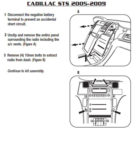 2009 cadillac sts installation parts, harness, wires, kits2009 cadillac sts  installation parts,