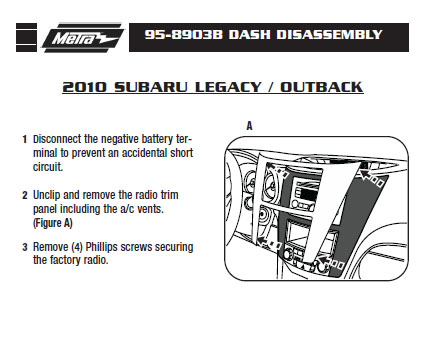 2010 Subaru Legacy Installation Parts Harness Wires Kits Bluetooth Iphone Tools Wire Diagrams Stereo