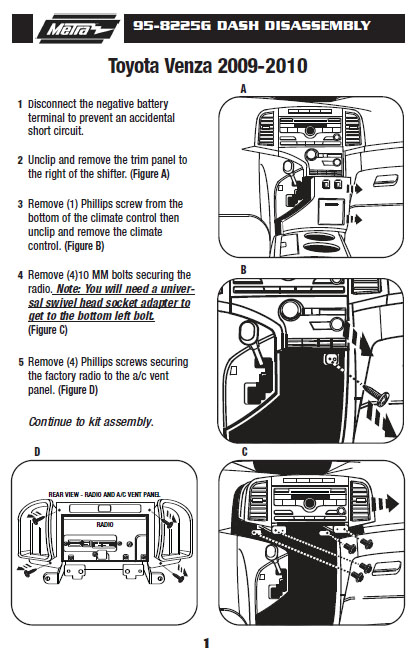 2010 toyota venza radio wiring diagram 2010 toyota venza installation parts, harness, wires, kits ...