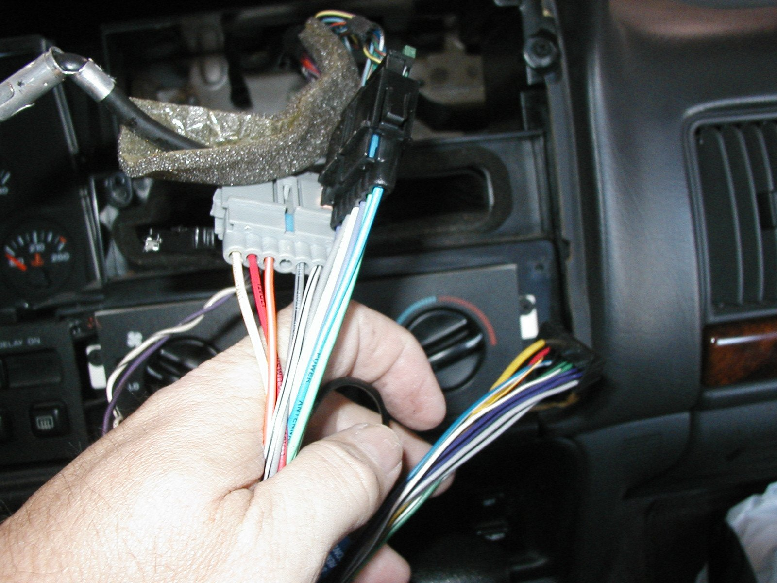 1996 Jeep Cherokee Installation Parts, harness, wires ...