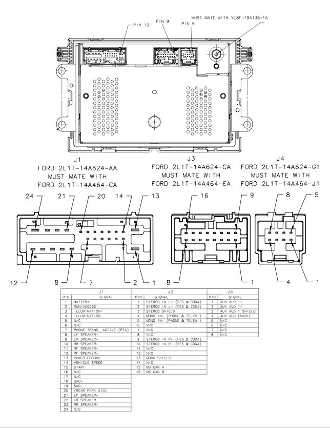 2008 ford edge radio wiring diagram