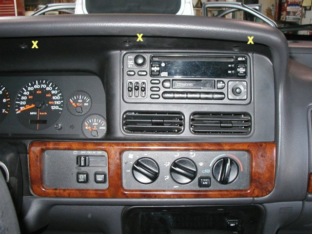 96 jeep grand cherokee stereo wiring diagram start by removing the 5 screws across the top of the dash  start by removing the 5 screws across the top of the dash