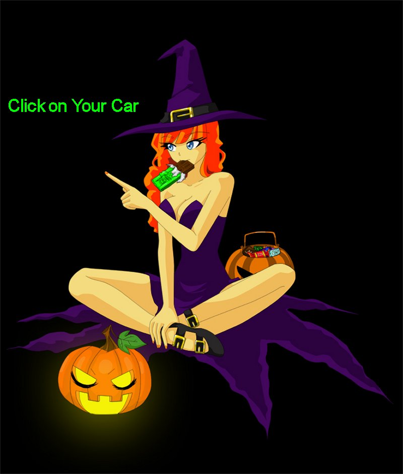 Ellie says click on your car to find the parts you need - Happy Holloween