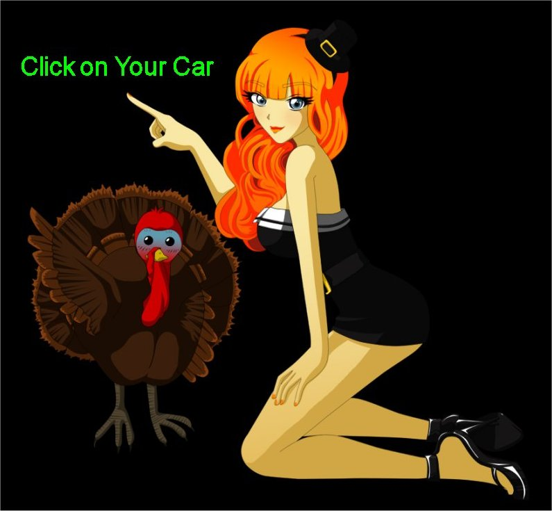 Ellie says click on your car to find the parts you need - Dont be a turkey