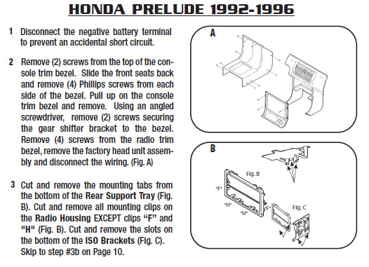 1993 honda preludeinstallation instructions. Black Bedroom Furniture Sets. Home Design Ideas