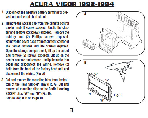 1994 acura vigor installation parts stereo kits harness. Black Bedroom Furniture Sets. Home Design Ideas