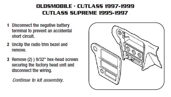 1995 oldsmobile cutlass supremeinstallation instructions. Black Bedroom Furniture Sets. Home Design Ideas