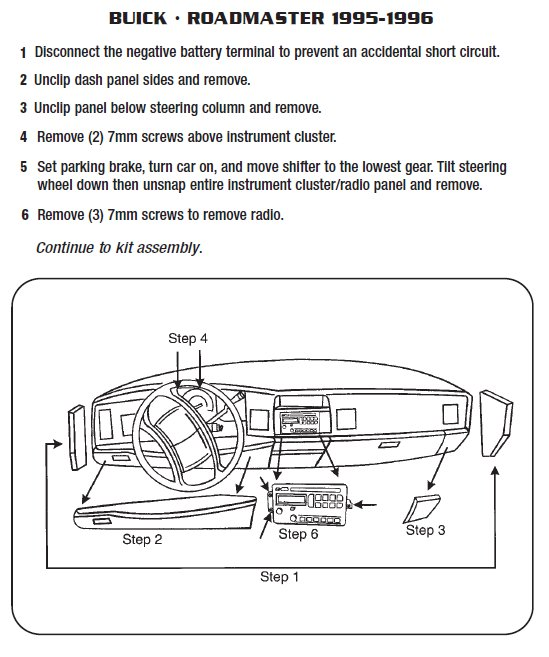 1996 buick roadmasterinstallation instructions