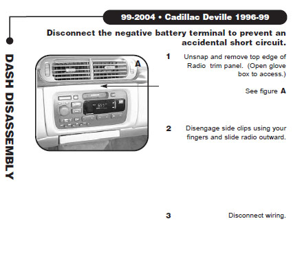 1996 cadillac devilleinstallation instructions. Black Bedroom Furniture Sets. Home Design Ideas